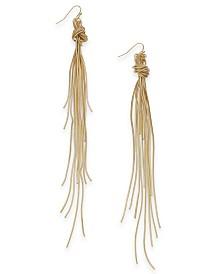 Thalia Sodi Multi-Chain Knotted Linear Drop Earrings, Created for Macy's