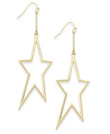 Gold-Tone Star Drop Earrings, Created for Macy's