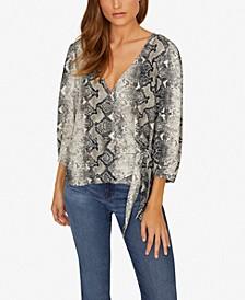 All Wrapped Up Printed Top