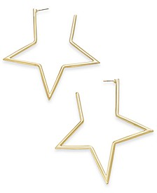 Gold-Tone Star Extra Large Hoop Earrings , Created for Macy's