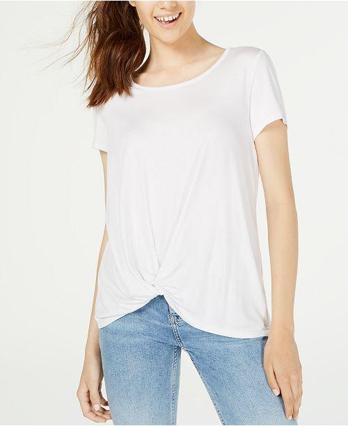 Hippie Rose Juniors' Twist-Front T-Shirt