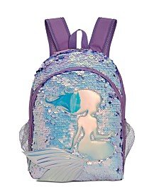 FAB Little & Big Girls Reversible-Sequin Mermaid Backpack