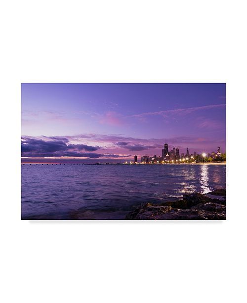 "Trademark Global NjR Photos 'Violet Hour' Canvas Art - 30"" x 47"""