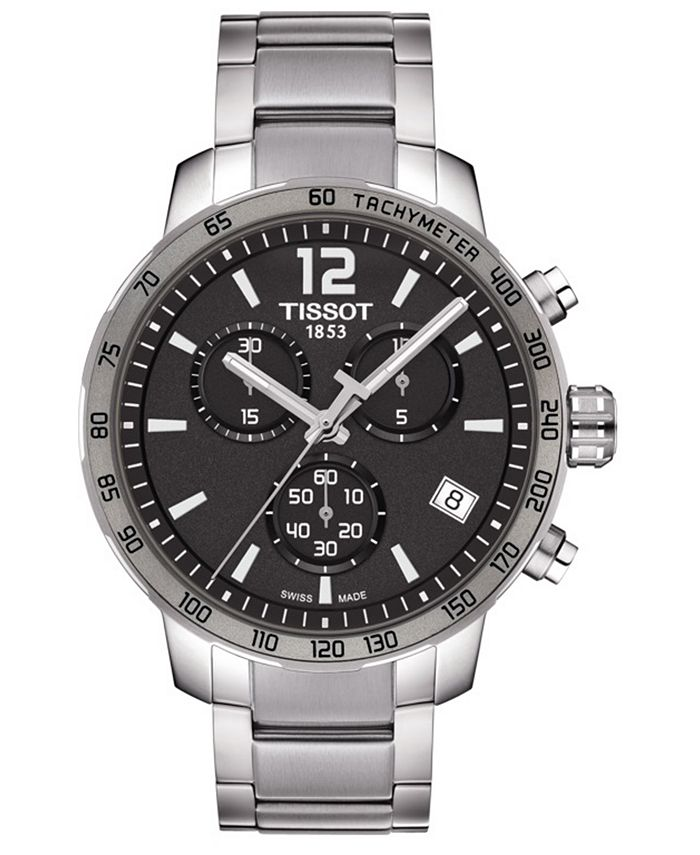 Tissot - Men's Swiss Chronograph Quickster Stainless Steel Bracelet Watch 42mm T0954171106700