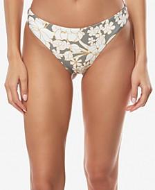 Juniors' Embry Printed High-Leg Cheeky Bikini Bottoms