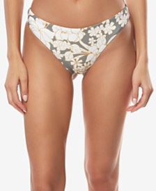 O'Neill Juniors' Embry Printed High-Leg Cheeky Bikini Bottoms