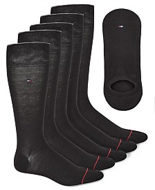 Tommy Hilfiger Men's 6-Pk. Crew & No-Show Socks