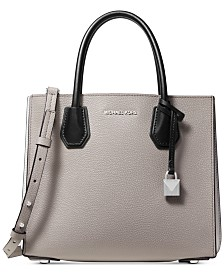 MICHAEL Michael Kors Mercer Small Colorblocked Leather Accordion Tote