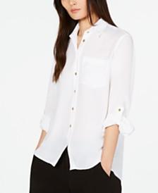MICHAEL Michael Kors Drop-Shoulder Shirt