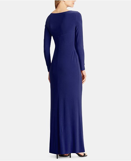 Macys Outlet Nj: Lauren Ralph Lauren Shirred Jersey Gown & Reviews