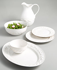 Martha Stewart Collection La Dolce Vita Olive Whiteware Dinnerware Collection, Created for Macy's