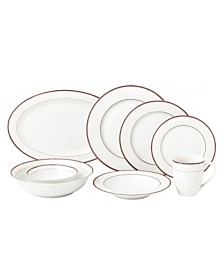 Lorren Home Trends 50 Piece New Bone China Dinnerware Set