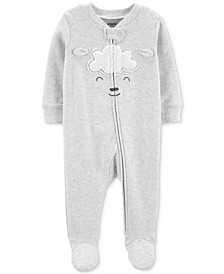 Baby Boys & Girls Lamb Footed Cotton Coverall