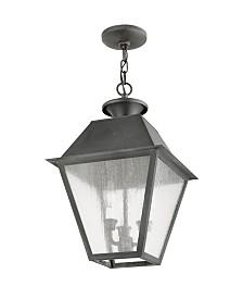 Livex Mansfield 3-Light Outdoor Chain Lantern