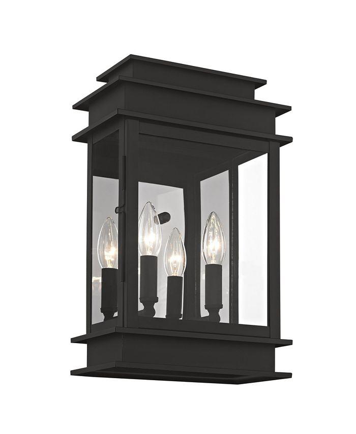"Livex - Princeton 2-Light Outdoor 15.25"" Wall Lantern"