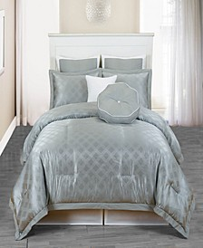 Winston 7 Piece Oversize/Overfilled Queen Comforter Set
