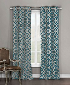 "Harris 36"" x 96"" Trellis Print Blackout Curtain Set"