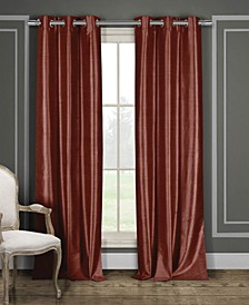 "Daenerys 38"" x 96"" Faux Silk Blackout Curtain Set"
