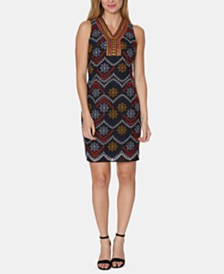 Laundry by Shelli Segal Embroidered Eyelet Shift Dress