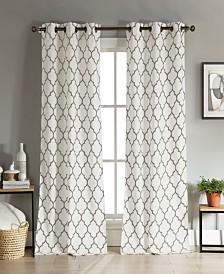 "Mason 38"" x 112"" Trellis Print Curtain Set"
