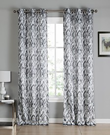 "Neila 38"" x 96"" Printed Curtain Set"