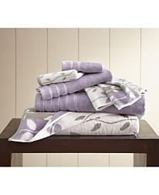 6-Piece Yarn Dyed Towel Set Organic Vines