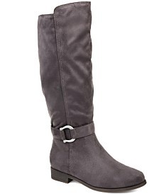 Journee Collection Women's Comfort Cate Extra Wide Calf Boot