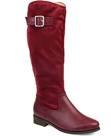 Women's Comfort Wide Calf Frenchy Boot