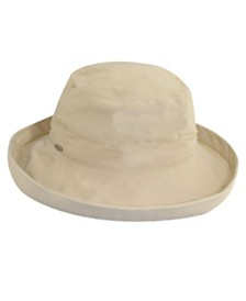 Scala Medium Brim Cotton Bucket Hat