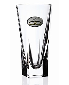 Lorren Home Trends RCR Fusion Small Crystal Vase with 50th Anniversary Design