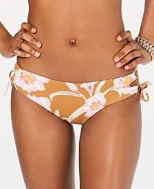 Roxy Juniors' Beach Classics Printed Lace-Up Bikini Bottoms