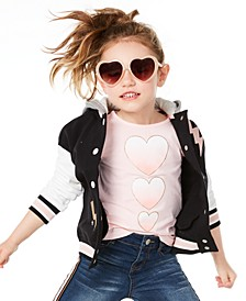 Little Girls Hearts-Print T-Shirt, Created for Macy's