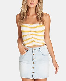 Billabong Juniors' Cotton Striped Denim Skirt
