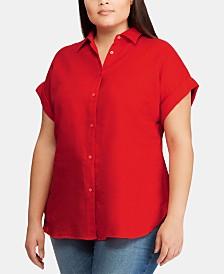 Lauren Ralph Lauren Plus-Size Dolman-Sleeve Shirt