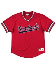 Mitchell & Ness Men's St. Louis Cardinals Mesh V-Neck Jersey
