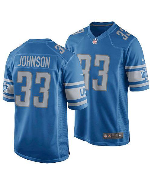 best website 93f67 7937b Men's Kerryon Johnson Detroit Lions Game Jersey