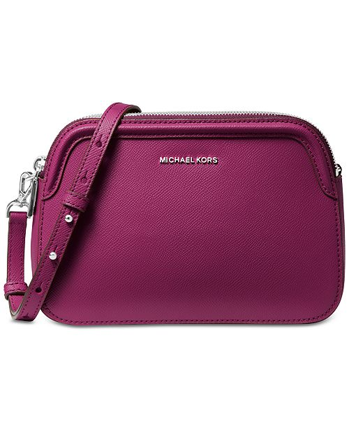 Michael Kors Crossgrain Leather Double Zip Crossbody