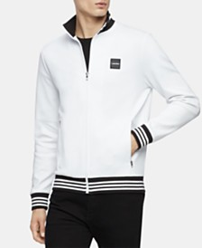 Calvin Klein Men's Full-Zip Mock-Neck Sweatshirt