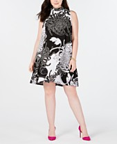 c79427c42b202 Robbie Bee Trendy Plus Size Printed Shift Dress