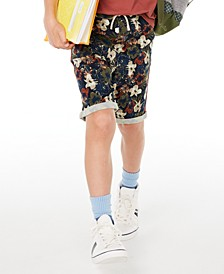 Big Boys Stretch Floral Twill Shorts, Created for Macy's