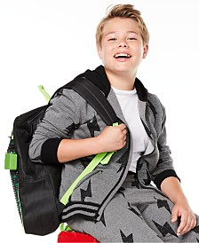 Epic Threads Big Boys Lightning Bolt-Print Full-Zip Fleece Hoodie, Created for Macy's