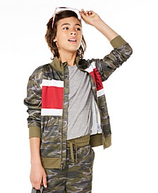Big Boys Colorblocked Camouflage Tricot Jacket, Created for Macy's