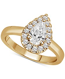 Certified Diamond Pear Halo Engagement Ring (1 ct. t.w.) in 14k Gold, 14k Rose Gold or 14k White Gold