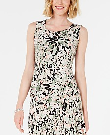 JM Collection Petite Printed Tank Top, Created for Macy's