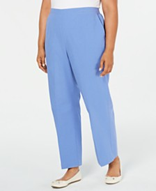 Alfred Dunner Plus Size The Summer Wind Cotton Pants