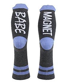 SOCK TALK Ladies' Crew Socks BABE MAGNET