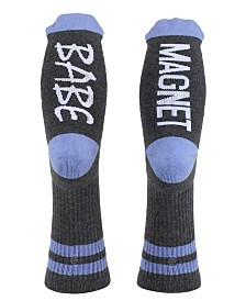 SOCK TALK Ladies' Crew Socks BABE MAGNET