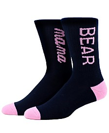 SOCK TALK Ladies' Crew Socks MAMA BEAR