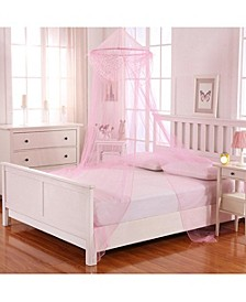 Cottonloft Raisinette Kids Collapsible Hoop Sheer Mosquito Net Bed Canopy