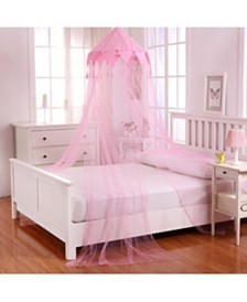 Cottonloft Harlequin Collapsible Hoop Sheer Mosquito Net Bed Canopy